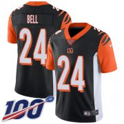 Wholesale Cheap Nike Bengals #24 Vonn Bell Black Team Color Men's Stitched NFL 100th Season Vapor Untouchable Limited Jersey