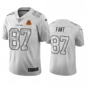 Wholesale Cheap Denver Broncos #87 Noah Ant White Vapor Limited City Edition NFL Jersey