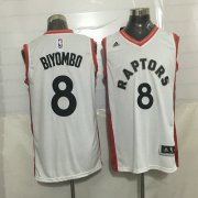 Wholesale Cheap Men's Toronto Raptors #8 Bismack Biyombo White New NBA Rev 30 Swingman Jersey