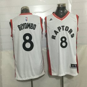 Wholesale Cheap Men\'s Toronto Raptors #8 Bismack Biyombo White New NBA Rev 30 Swingman Jersey