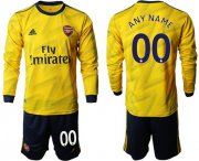 Wholesale Cheap Arsenal Personalized Away Long Sleeves Soccer Club Jersey
