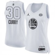 Wholesale Cheap Nike Golden State Warriors #30 Stephen Curry White Women's NBA Jordan Swingman 2018 All-Star Game Jersey