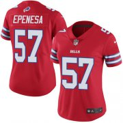 Wholesale Cheap Nike Bills #57 A.J. Epenesas Red Women's Stitched NFL Limited Rush Jersey
