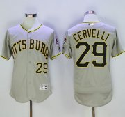 Wholesale Cheap Pirates #29 Francisco Cervelli Grey Flexbase Authentic Collection Stitched MLB Jersey
