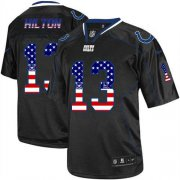 Wholesale Cheap Nike Colts #13 T.Y. Hilton Black Men's Stitched NFL Elite USA Flag Fashion Jersey