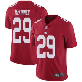 Wholesale Cheap Nike Giants #29 Xavier McKinney Red Men\'s Stitched NFL Limited Inverted Legend Jersey