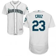 Wholesale Cheap Mariners #23 Nelson Cruz White Flexbase Authentic Collection Stitched MLB Jersey