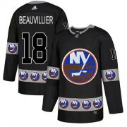 Wholesale Cheap Adidas Islanders #18 Anthony Beauvillier Black Authentic Team Logo Fashion Stitched NHL Jersey