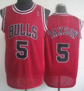 Wholesale Cheap Chicago Bulls #5 John Paxson Red Swingman Throwback Jersey