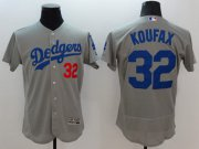 Wholesale Cheap Dodgers #32 Sandy Koufax Grey Flexbase Authentic Collection Stitched MLB Jersey