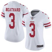 Wholesale Cheap Nike 49ers #3 C.J. Beathard White Women's Stitched NFL Vapor Untouchable Limited Jersey