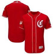 Wholesale Cheap Reds Blank Red 2019 Spring Training Flex Base Stitched MLB Jersey