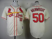 Wholesale Cheap Cardinals #50 Adam Wainwright Cream Stitched MLB Jersey