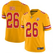 Wholesale Cheap Nike Chiefs #26 Le'Veon Bell Gold Men's Stitched NFL Limited Inverted Legend Jersey