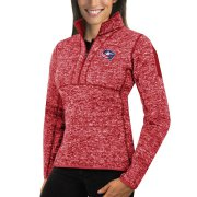 Wholesale Cheap Columbus Blue Jackets Antigua Women's Fortune 1/2-Zip Pullover Sweater Red