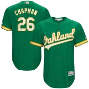 Wholesale Cheap Men's Oakland Athletics #26 Matt Chapman Majestic Kelly Green Alternate Official Cool Base Player Jersey