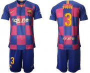 Wholesale Cheap Barcelona #3 Pique 20th Anniversary Edition Home Soccer Club Jersey