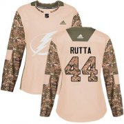 Cheap Adidas Lightning #44 Jan Rutta Camo Authentic 2017 Veterans Day Women's Stitched NHL Jersey
