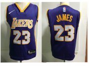 Cheap Los Angeles Lakers #23 LeBron James Purple Toddlers Jersey