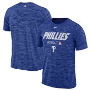 Wholesale Cheap Philadelphia Phillies Nike Authentic Collection Velocity Team Issue Performance T-Shirt Royal