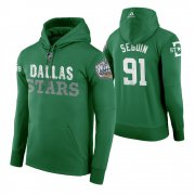 Wholesale Cheap Adidas Stars #91 Tyler Seguin Men's Green 2020 Winter Classic Retro NHL Hoodie
