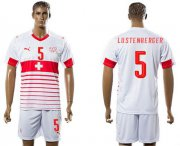 Wholesale Cheap Switzerland #5 Lustenberger Away Soccer Country Jersey