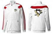 Wholesale NHL Pittsburgh Penguins Zip Jackets White-2
