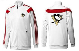 Wholesale Cheap NHL Pittsburgh Penguins Zip Jackets White-2