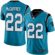 Wholesale Cheap Nike Panthers #22 Christian McCaffrey Blue Men's Stitched NFL Limited Rush Jersey