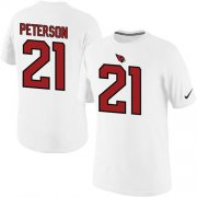 Wholesale Cheap Nike Arizona Cardinals #21 Patrick Peterson Pride Name & Number NFL T-Shirt White