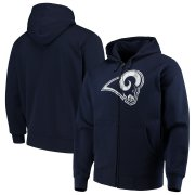 Wholesale Cheap Los Angeles Rams G-III Sports by Carl Banks Primary Logo Full-Zip Hoodie Navy