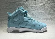 Wholesale Cheap Air Jordan 6 GS Still Blue North Carolina Blue/White