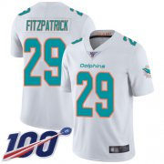 Wholesale Cheap Nike Dolphins #29 Minkah Fitzpatrick White Men's Stitched NFL 100th Season Vapor Limited Jersey