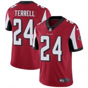 Wholesale Cheap Nike Falcons #24 A.J. Terrell Red Team Color Youth Stitched NFL Vapor Untouchable Limited Jersey