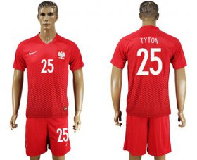 Wholesale Cheap Poland #25 Tyton Away Soccer Country Jersey