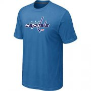 Wholesale Cheap Washington Capitals Big & Tall Logo Indigo Blue NHL T-Shirt