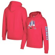 Wholesale Cheap New England Patriots Mitchell & Ness Classic Team Pullover Hoodie Red
