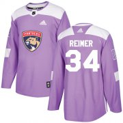Wholesale Cheap Adidas Panthers #34 James Reimer Purple Authentic Fights Cancer Stitched Youth NHL Jersey