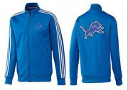 Wholesale Cheap NFL Detroit Lions Team Logo Jacket Blue_2