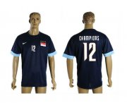 Wholesale Cheap Singapore #12 Champions Blue Soccer Country Jersey