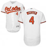 Wholesale Cheap Orioles #4 Earl Weaver White Flexbase Authentic Collection Stitched MLB Jersey