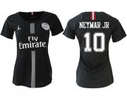Wholesale Cheap Women's Jordan Paris Saint-Germain #10 Neymar Jr Home Soccer Club Jersey