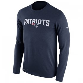Wholesale Cheap Men\'s New England Patriots Nike Navy Legend Essential Lock Up Long Sleeve Performance T-Shirt