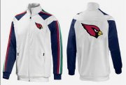 Wholesale Cheap NFL Arizona Cardinals Team Logo Jacket White_2