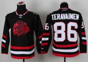 Wholesale Cheap Blackhawks #86 Teuvo Teravainen Black(Red Skull) 2014 Stadium Series Stitched Youth NHL Jersey