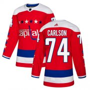 Wholesale Cheap Adidas Capitals #74 John Carlson Red Alternate Authentic Stitched NHL Jersey