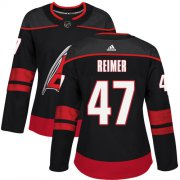 Wholesale Cheap Adidas Hurricanes #47 James Reimer Black Alternate Authentic Women's Stitched NHL Jersey