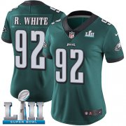 Wholesale Cheap Nike Eagles #92 Reggie White Midnight Green Team Color Super Bowl LII Women's Stitched NFL Vapor Untouchable Limited Jersey