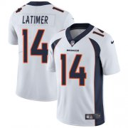 Wholesale Cheap Nike Broncos #14 Cody Latimer White Men's Stitched NFL Vapor Untouchable Limited Jersey