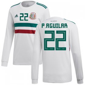 Wholesale Cheap Mexico #22 P.Aguilar Away Long Sleeves Soccer Country Jersey